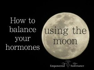 Rebalancing your hormones using the natural way they did it WAYYY back when.