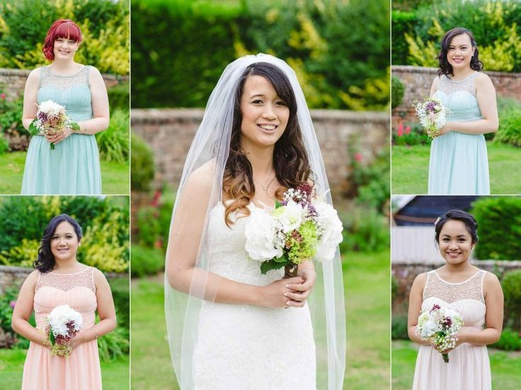 Bridal Party Portraits at Blake Hall Essex Wedding Barn Venue by Anesta Broad Photography