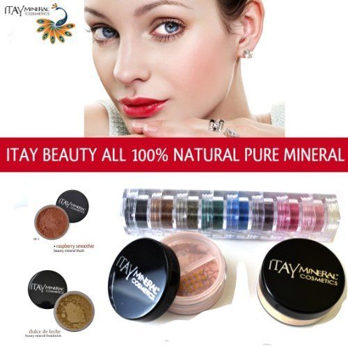 Itay Beauty Mineral Cosmetics Eye Shadow Shimmer 8 Stack Best 4 Brown Eyes  Mineral Foundation Color Mf5 Dulche De Leche  Mineral Blush Color Mb6  Raspberry Smoothie -- Be sure to check out this awesome product.