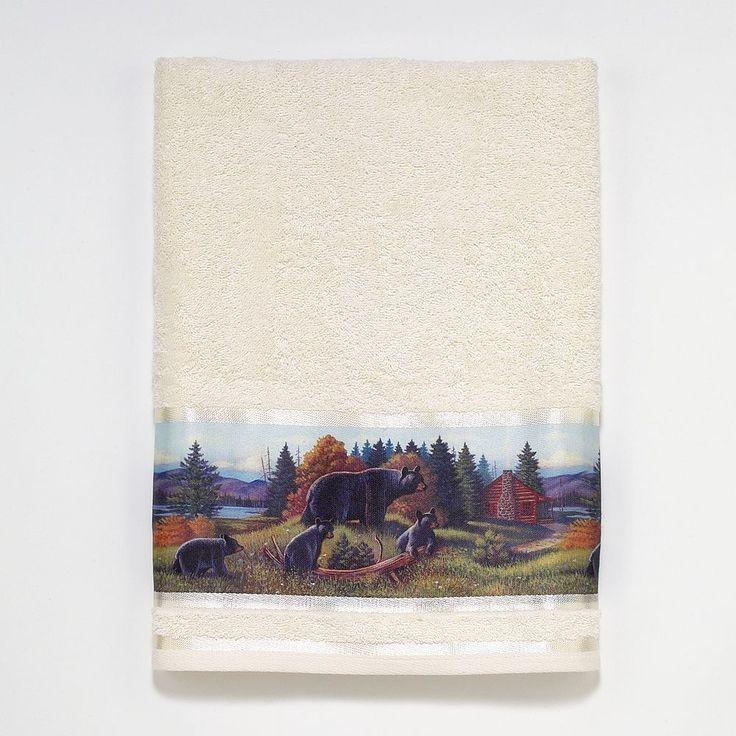 Avanti Black Bear Lodge Bath Towel, Multicolor