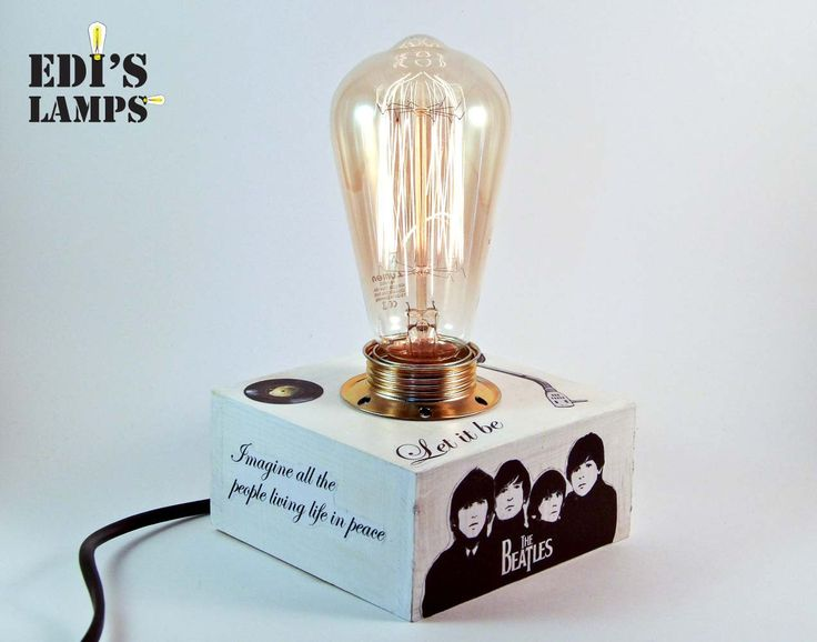 Custom Lamp, Customized Gifts for Him, Customized Gifts for Dad, The Beatles, Personalized Gifts for Him, Personalized Gifts for Dad, Edison - pinned by pin4etsy.com