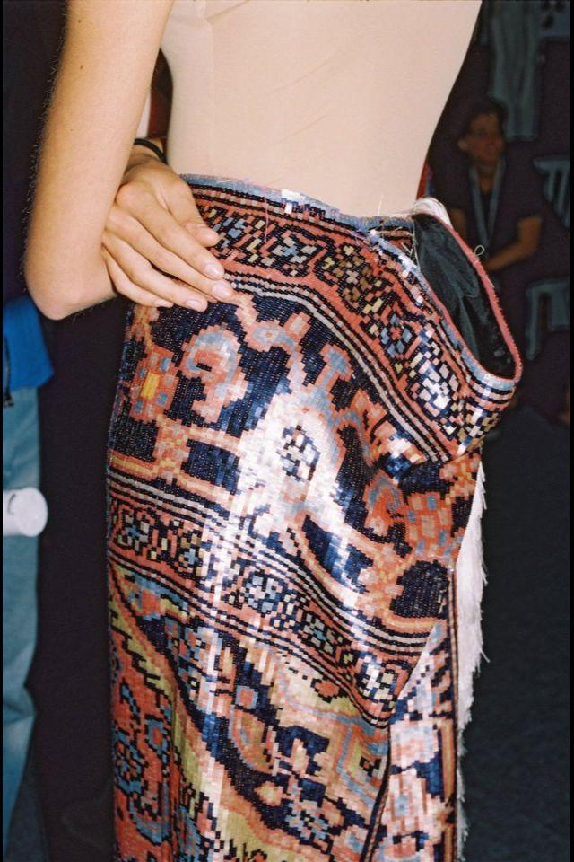Sequin Rug Skirt Detail MMM