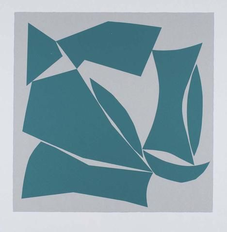 Alun Leach-Jones 'Voyager (Green)' - screenprint on paper