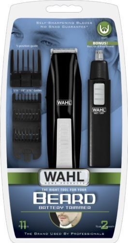 Mens 11 Piece Battery Operated Beard & Mustache + nose trimmer set. #Wahl