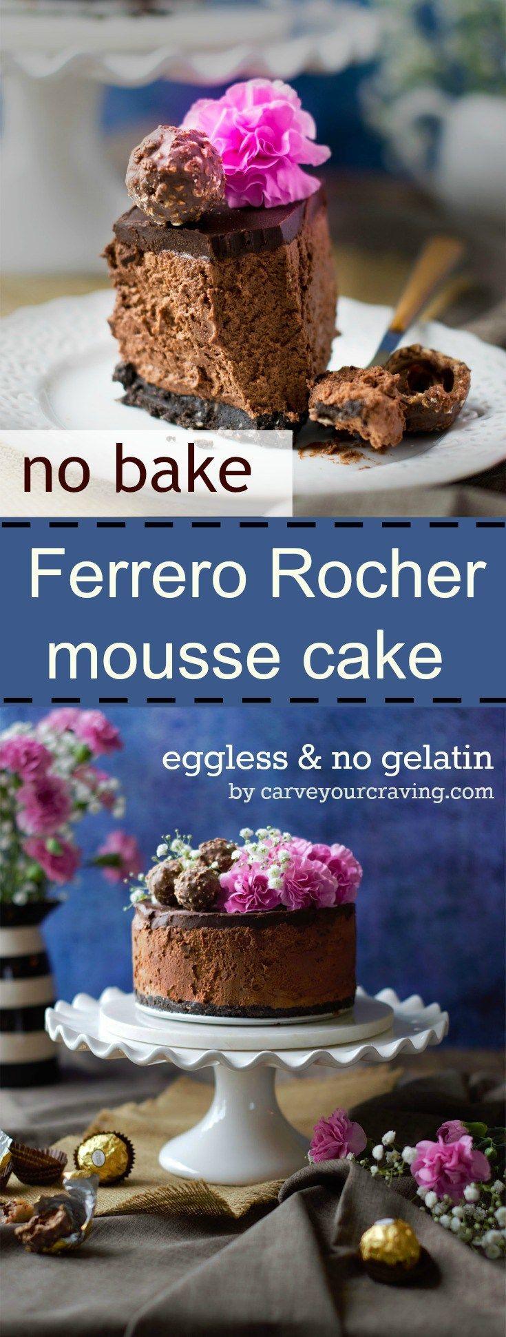 No bake eggless ferrero rocher mousse cake (scheduled via http://www.tailwindapp.com?utm_source=pinterest&utm_medium=twpin&utm_content=post94961671&utm_campaign=scheduler_attribution)