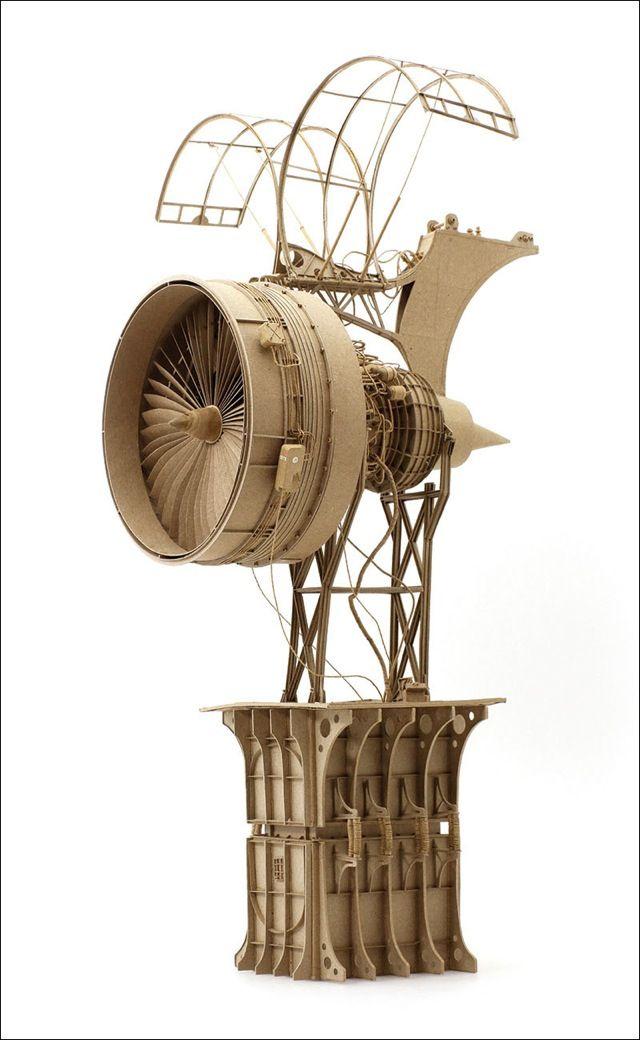 ダンボールのみで作り上げた空想科学的飛行物体の模型シリーズ「The Principles of Aerodynamics」 - DNA
