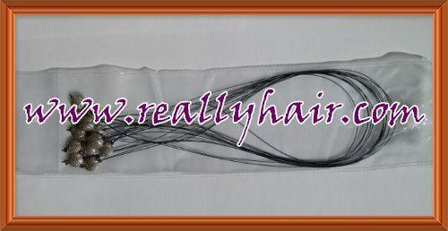 Quality nano hair extension fishing line ring hair extension hook needle 12pcs/bag