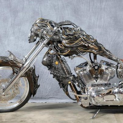 Bad Ass #chopper. Awesome metal work.
