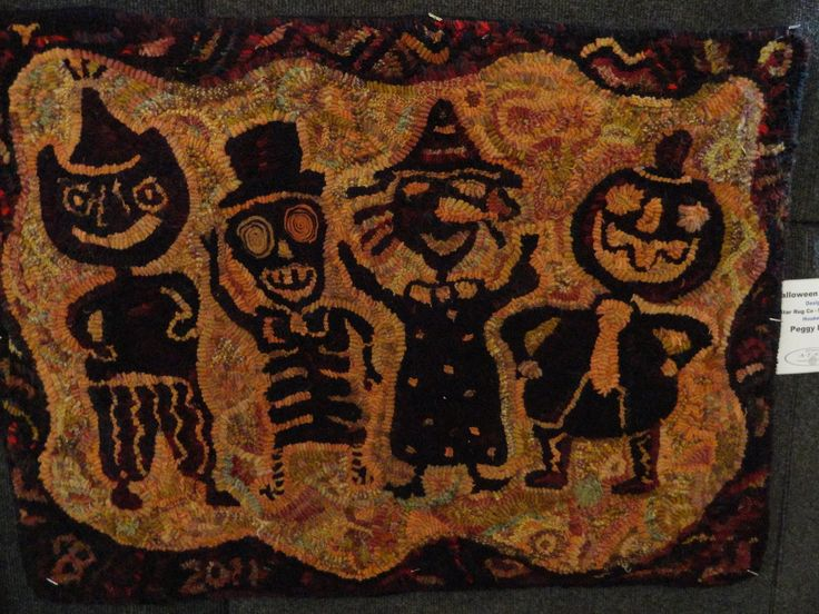 Halloween Rug From The ATHA Biennial ~