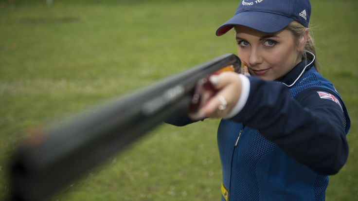 Can Amber Hill add to Britain's shooting haul in the women's skeet?
