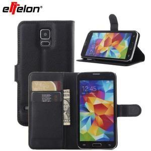 Housse en cuir de luxe Flip Wallet Flip pour Samsung Galaxy S5 i9600 avec support pour machines à sous