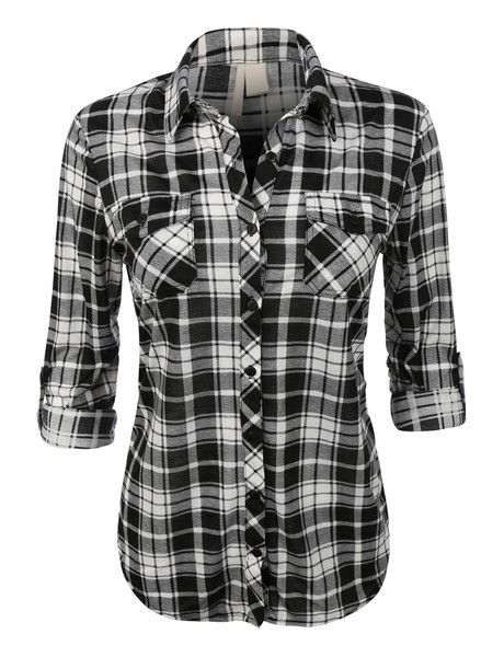 Dress well, spend less with this button down shirt. Make sure to pair it with boyfriend denim jeans and a faux leather jacket for a trendy look. Its plaid detail will keep you in style all year. Featu