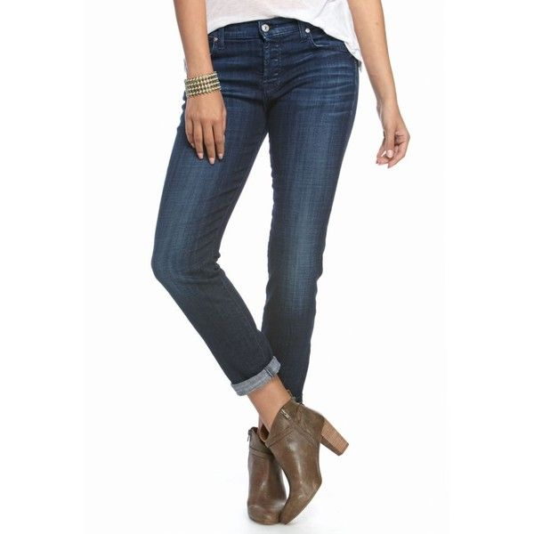 7 For All Mankind Bordeaux Broken Twill Josefina Rolled Boyfriend... ($189) ❤ liked on Polyvore featuring jeans, bordeaux broken twill, super skinny jeans, white boyfriend jeans, straight leg jeans, slouchy boyfriend jeans and relaxed boyfriend jeans