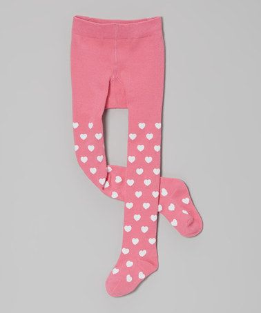 b3b0eed0bcd Take a look at this Pink Heart Tights - Infant