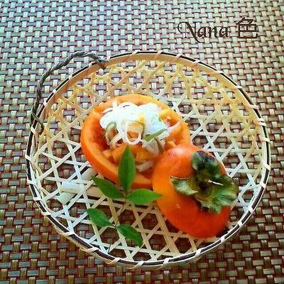 柿なます!旬の柿を器に~おもてなし! by Nana 色*さん | レシピ ...