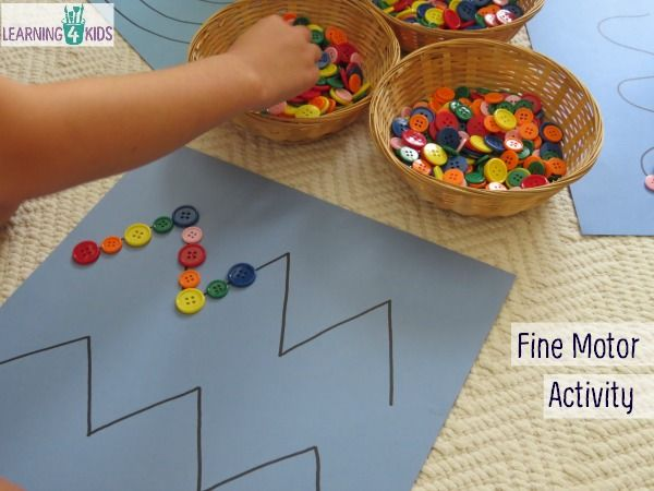 Here's a nice idea for fine motor centers that can also be used to teach patterns.