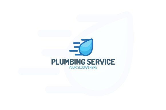 Plumbing service logo by MIRARTI on @creativemarket