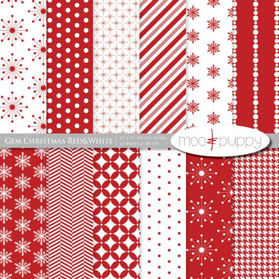 Christmas Digital Scrapbook Paper Pack - Gem Christmas Red    (Buy 2 Get 1 Free) Personal and Small Commercial Use. $3.25, via Etsy.