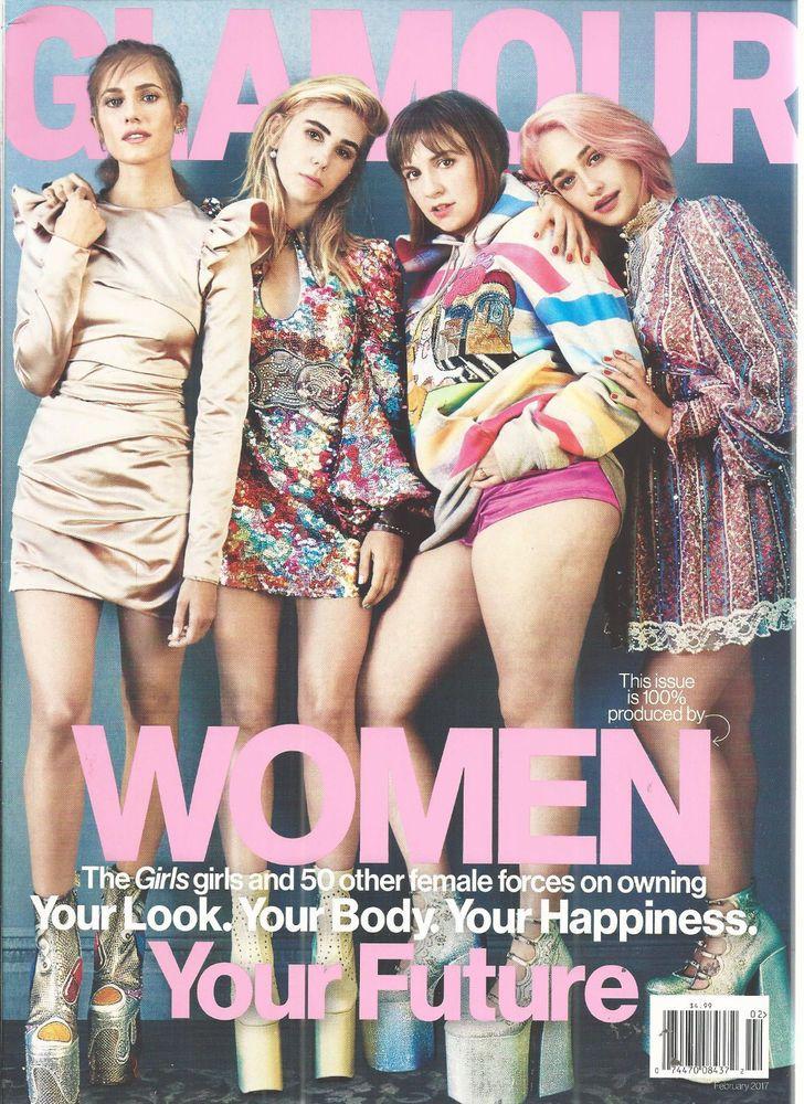 Allison Williams Glamour Magazine 2017 Girls Women Powered Issue February #CondeNast