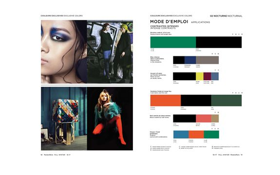 Colors Fall Winter 2016/17 Greenish/Orange Remedy Black and Violett Peclers Paris