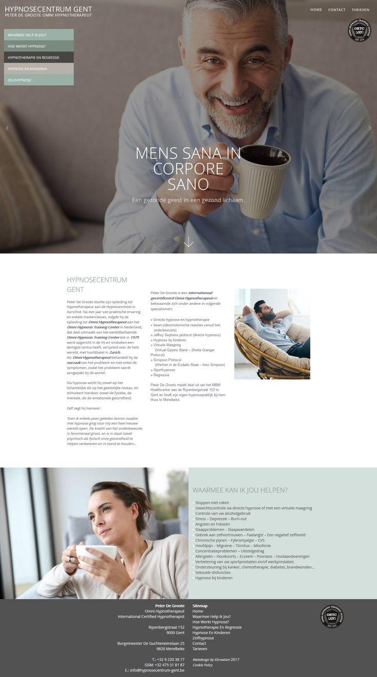 Onze klant Peter De Groote is een internationaal gecertificeerd Omni Hypnotherapeut te Gent. We kozen voor een ontwerp dat rust, zen en evenwicht uitstraalt. #webdesign #Gent #IDcreation #website #responsive