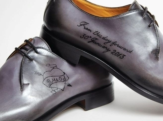 Rock tattooed shoes. | 13 Rad Ideas For A Tattoo-Inspired Wedding
