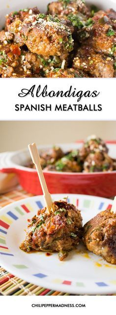 Albondigas - Spanish Meatballs – Make these classic Mexican meatballs at home with this recipe and serve them up as appetizers, the main course with a spicy red sauce, or in soup. It's a traditional Mexican comfort food with Spanish roots and they're incredibly tasty.