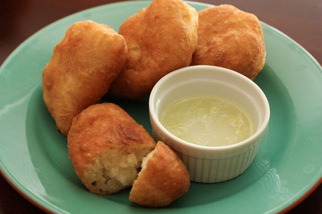 Russian Potato Piroshki with Garlic Dip