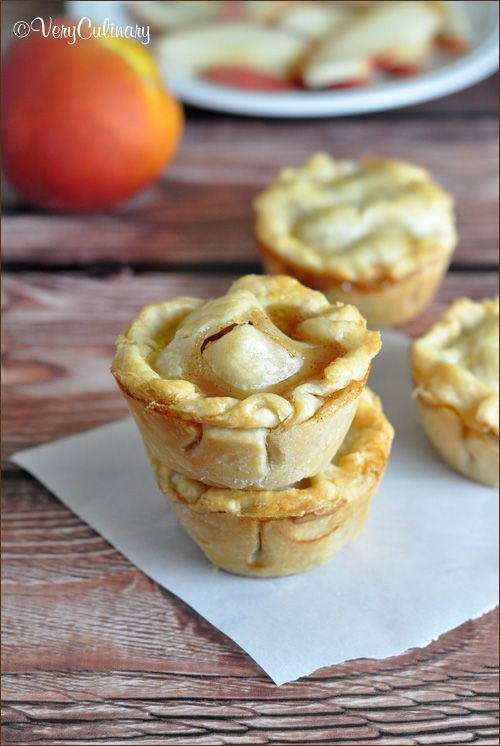 Mini Peach Pies #pie #mini