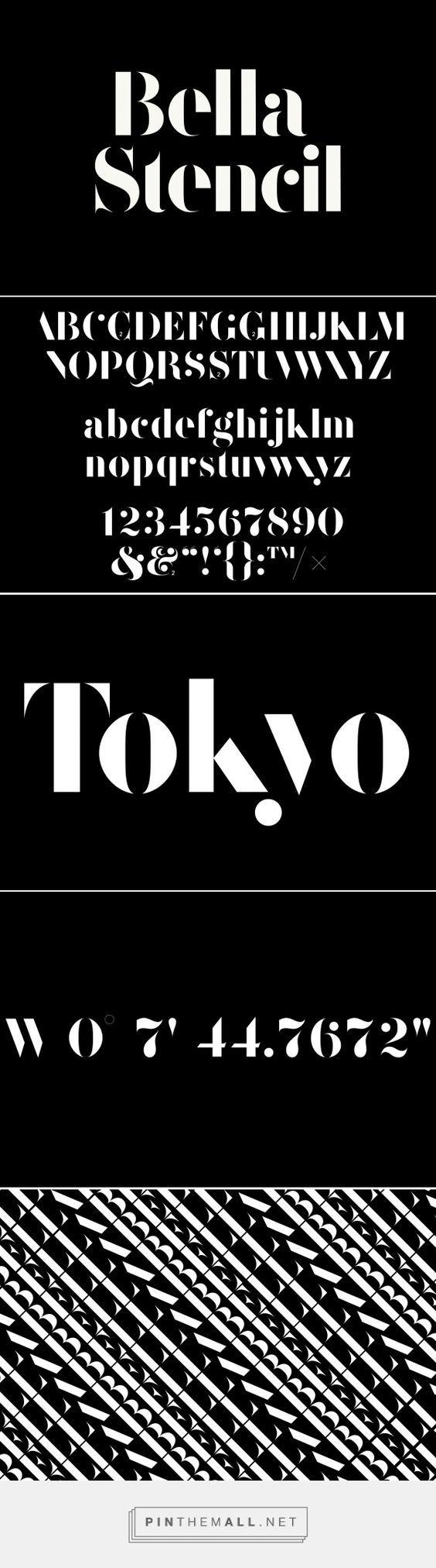 F37 Bella Stencil | Face37 Ltd . Font . Typography:
