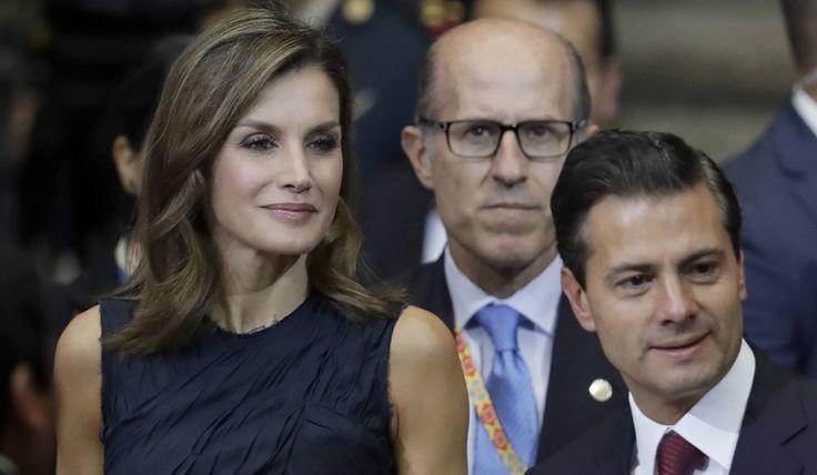 La reina Letizia y el presidente Enrique Peña Nieto, este martes en la inauguración de la Cumbre Mundial de Líderes contra el Cáncer (WCLS).