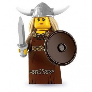 LEGO Viking  Minfigure - Ready to fight off the hoards this warrior has no fear to protect her village from invasion.