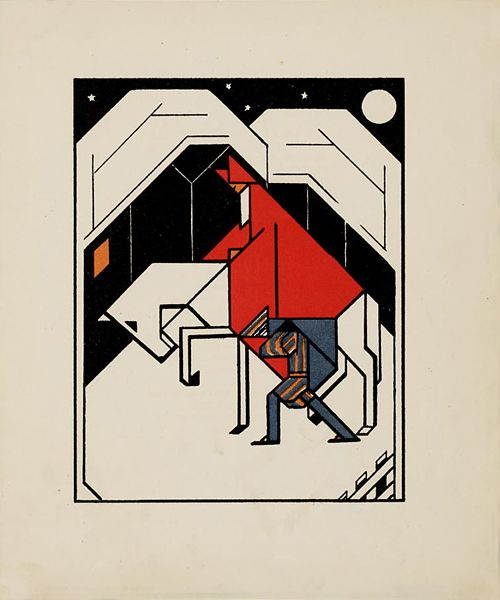 Lou Loeber, 'Gouden Vlinders' Illustrations (1927) Gouden Vlinders is a picture book from 1927 written by S. Franke and illustrated by De Stijl-exponent Lou Loeber.