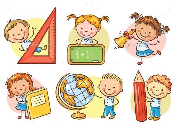 Image result for cartoon children at school