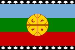 Bandera del Movimiento y Cultura Mapuche.