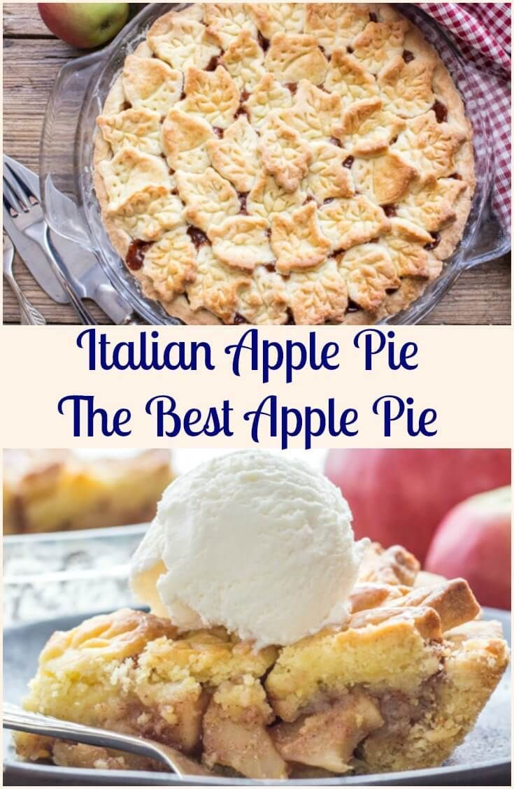 Italian Apple Pie a delicious Homemade Apple Pie Recipe, a fast and easy flaky crust with a perfect syrupy Apple filling. The Best Apple Pie. via /https/://it.pinterest.com/Italianinkitchn/