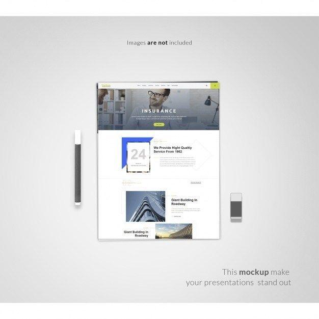 50 Modern Website Mockup Psd