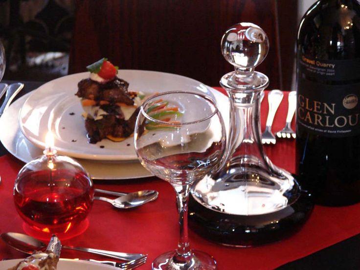 steak and wine at le si signature restaurant at Casa toscana lodge