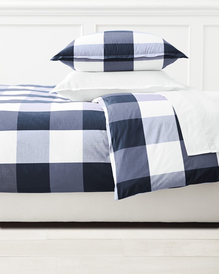 Gingham Duvet Cover via Serena & Lily | There's a reason gingham has been around forever – the relaxed checks look just as good in your closet as they do in the rest of your home.