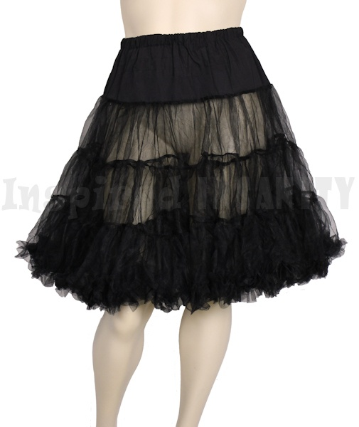 Psychobilly Pinup 50x Swing Petticoat - Black