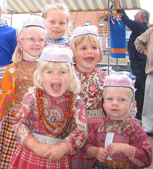 Five children in Marken costumes #NoordHolland #Marken