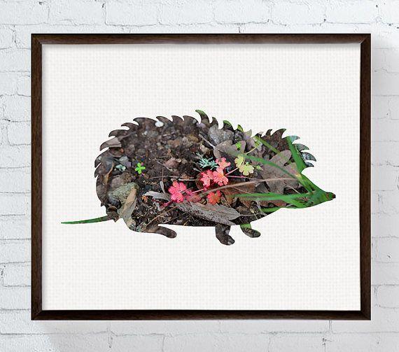 Istrice arte, Hedgehog stampa, decorazione della parete di Hedgehog, arte di vivaio, vivaio del terreno boscoso, Woodland stampa, foresta animali, camera bambini, arte per bambini by MiaoMiaoDesign #italiasmartteam #etsy