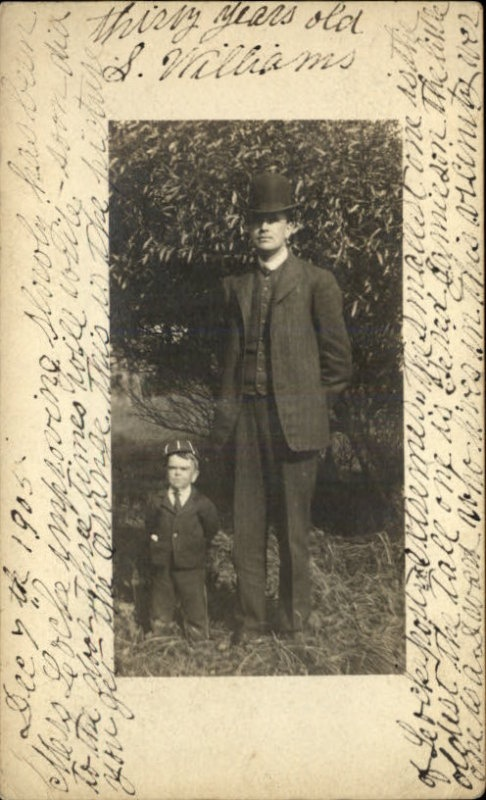 "Lockeport NS Midget Dwarf ""Ned"" Hupman & Tall Man c1905..."