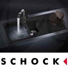 Schock Lithos D150 1.5 Bowl Granite Onyx Black Kitchen Sink & Tap