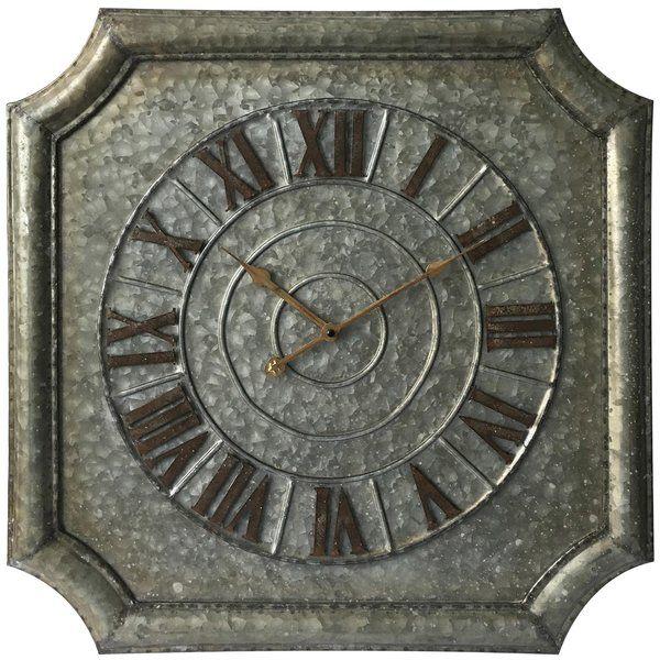 """Horloge murale antique surdimensionnée de 23"""""""