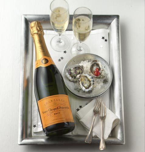 Veuve Clicquot Champagne – the iconic yellow label draws proper attention to its consistency and great flavors! Medium bodied elegance!