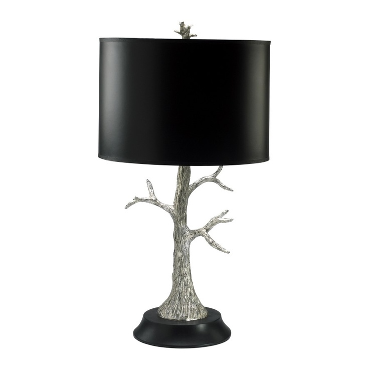 Cyan Design Lamps Tree Lamp In Silver Leaf And Black   2097