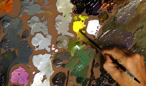 Learn how to paint in oils for free draw mix paint art for Learn to paint with oils for free
