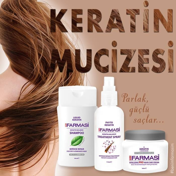 Farmasi Keratinli Saç Bakım Serisi yıpranan saç tellerini güçlendirir parlaklık ve yumuşaklık kazandırır! #farmasi #farmasicolourcosmetic #keratin #benimfarmasim #saç