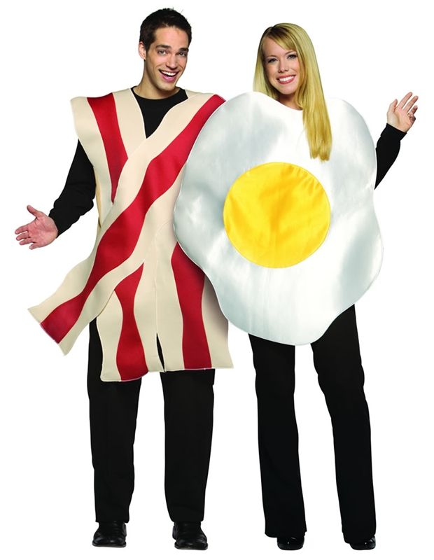 Bacon and Eggs Adult Costume #couple costumes #halloween couple costumes